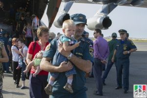 30 June 2014. Russia Emergency Ministry's charter flight brings to Daghestan over 100 refugees from Ukraine.