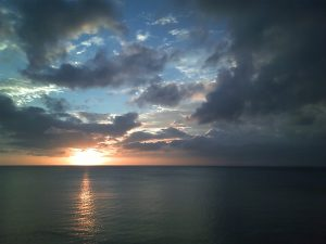 An album of my own photos that I consider to be successful. Various landscapes, sights, nature views. [Photo: Sunset on Okinawa, 2008, taken with a Casio mobile phone]