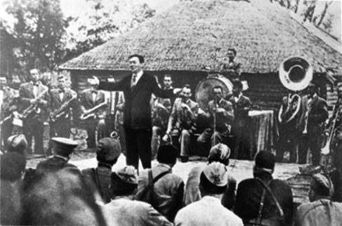 Леонид Утёсов на фронте, 1942 г.